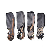 NBJIAJUGO Ox Horn Comb Hand Carved Hair Loss Treatment Comb Brush Massage Comb