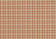 Richloom Fabric Beige  Red Coral Green Cotton Plaid    Drapery Upholstery