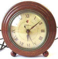 Awesome 1930 Art Deco Electric Telechron Alarm Clock Parts Wood Ashland, MASS