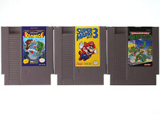 3 Nintendo NES Games Rampage Super Mario Bros. 3 Teenage Mutant Ninja Turtles