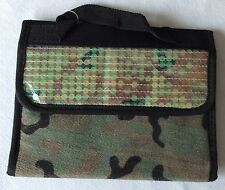 Sassy Chic Cosmetic Bag Camouflage with Sequins! NEW WITH TAGS!! Make-Up Case!
