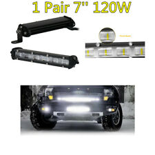2X 7'' 120W Aluminum LED Work Light Flood Beam Car Off-Road Driving Fog Lamps