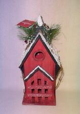Decorative Birdhouse * Snow With Berries And Pine Needles * New *