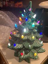 "Vintage Atlantic Mold Ceramic Christmas Tree Light-Up Star Base 13"""