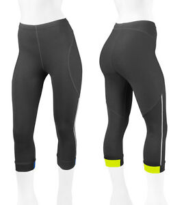 Women's Victoria Bike  Biking Capri Padded for Cycling  with Reflectives