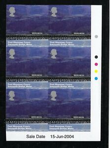 QEII 2004 RARE British Journeys IMPERF corner block SG 2466a c£1150 (pair) MNH
