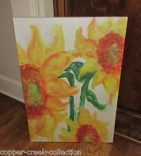 Canvas SUNFLOWER Floral Picture Wall Art Sign*Primitive/French Country Decor