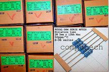 10 pezzi RESISTENZE STRATO METALLICO 2W 1% VALORE A SCELTA DA 10 OHM A 1M OHM
