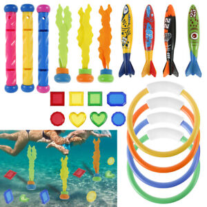 22x Tauch Spielzeug Set Unterwasserspielzeug Swimming Pool versinkendes spaßiges
