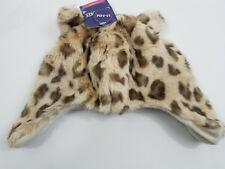 Baby Winter Beanie Hat Leopard Animal Print Fleece Lined Unisex Infant 12-24M