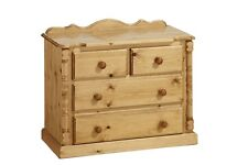 PINE FURNITURE SANDRINGHAM 2+2 DRAWER CHEST NO ASSEMBLY REQUIRED!!!