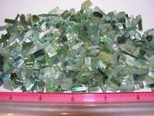 Tourmaline crystal blue green all natural mine rough 60 carat lots 30-60+ pieces
