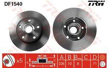 TRW Juego de 2 discos freno Trasero 226mm VOLKSWAGEN GOLF SEAT TOLEDO DF1540