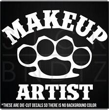 MAKEUP ARTIST UFC HARLEY FIGHT FUNNY DECAL STICKER MACBOOK CAR WINDOW MOTORCYCLE