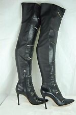 SCHUTZ  HIGH HEEL LEATHER W CALF STRETCH ZIPPER OVER THE KNEE BOOTS SIZE  9