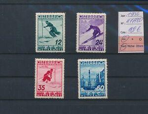 LN83685 Austria 1936 skiing sports fine lot MNH cv 180 EUR