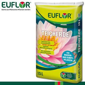 Euflor 15L Teicherde Nährstoffe Teichfplanzen Sumpf Wachstum Seerosen Pflege