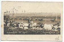 1904 MELBOURNE CUP HORSE RACE FINISH LINE  ACRASIA WINNING PHOTO POSTCARD