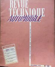 Revue technique RENAULT FREGATE 1956 à 1958 ( sauf TRANSFLUIDE ) RTA 152 1950