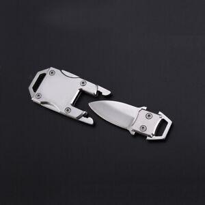 Folding Knife Stainless Steel Outdoor Pocket EDC Key Keychain Survival Tool