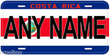 Costa Rica Flag Any Name Novelty Car License Plate
