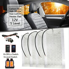 2 seat 4Pad Universal dial Switch Carbon fiber Heated Seat Heater Kit 5-Level