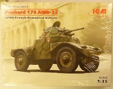 ICM 1/48 WWII French Panhard 178 AMD 35 Armored Vehicle Model Kit 35373