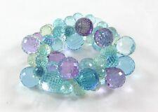 Fabulous New Purple Blue Green Colored Bubble Statement Bracelet #B1365