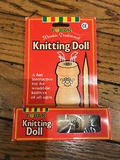Knitting Doll Tobar Retro Wooden Stocking Stuffer Crafts
