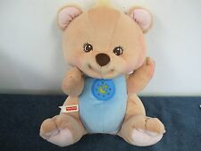 FISHER PRICE BEDTIME BEAR NATURE SOUNDS LIGHTS UP 1998