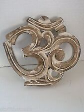 "Om Wall Hanging - Distressed Wood - 7 1/2 ""- Handcrafted"