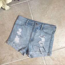 Abercrombie Kids Girls 14 Shorts Cut Off Distressed Light Wash Jean 147