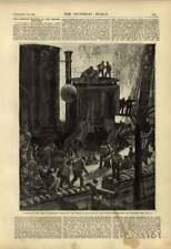 1875 Burning French Ironclad Magenta Off Toulon