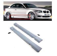 2 BAS DE CAISSE M PERFORMANCE POUR BMW SERIE 1 E81 3 PORTES + E82 COUPE + E88