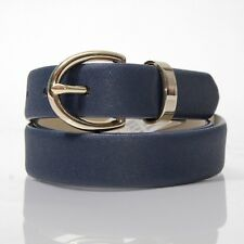 NEW MERONA NAVY GOLDEN BUCKLE WOMEN BELT SIZE SMALL S CASUAL FASHION HOT B3