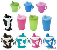 Haberman Anyway Up Baby Kids Toddler Sippy Drinking Leakproof Cow Cup BPA Free