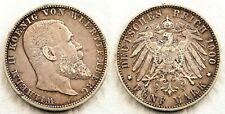 Alemania - Wilhelm II. 5 Marcos 1900 F. Frankfurt. MBC+/VF+. Plata 27,6 g.