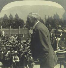 Keystone Stereoview President Harding & Boy Scouts in Butte, MT-Alaska Trip 1923