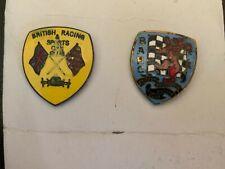 A pair of vintage BRSCC & BARC Lapel Pin Badges