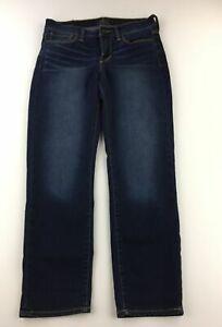 Lucky Brand Womens Jeans Size 27 Blue Dark Wash Mollie Crop C30-12Z