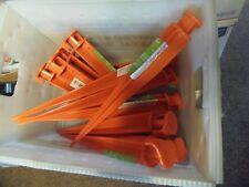 "20 - 16"" Orange Ground Stake Sticks   *** FREE SHIPPING *** ( PO-52 )"