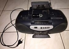 Stereo Radio Recorder Cd Player Cassette schwarz