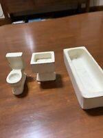 Creative Playthings Wood Doll House Furniture Bathroom Bathtub Sink Toilet DH1