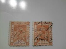 SWITZERLAND 1890s Canton Bern Tax fiscal Stamp used 10c and 25c see pics