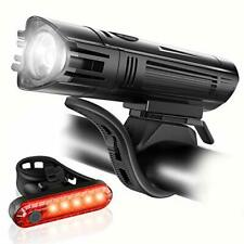 Ascher Ultra Bright Usb Rechargeable Bike Light Set, Powerful Bicycle Front