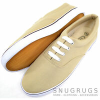 Mens Smart / Casual / Summer Canvas Lace Up Boat / Deck Shoes / Loafers