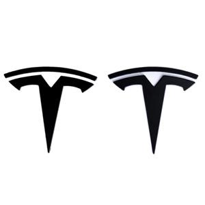 Black Tesla Car Front Hood Rear Trunk Lid Emblem Badge for Tesla Model 3 S X