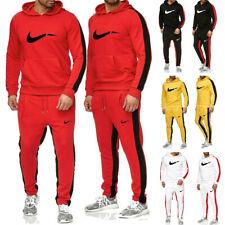 Herren Hoodie Sporthose Jogginganzug Kapuzenpullis Trainingsanzug Einfarbig