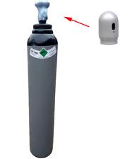 Stickstoff (95%) 8 Liter Gasflasche Reines Schweißgas MIG/MAG/WIG Klimaanlage