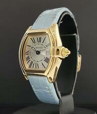 Cartier Roadster Ladies Ref. 2676 18K Yellow Gold / Silver Roman Dial Quartz